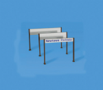 5095 Modelscene: OO ACCESSORIES  Station Nameboards, modern